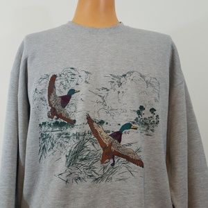 Rugger By Gant gray sweatshirt sz large embroidere